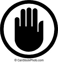 mão, ícone