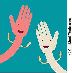 mão aberta