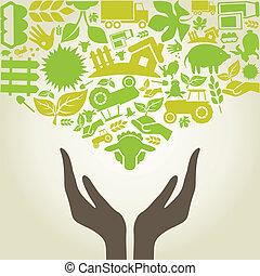 mão, agricultura