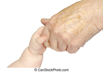 mão bebê