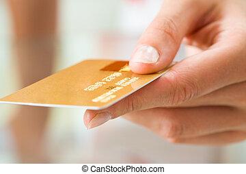 mão cartão