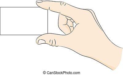 mão., cartão negócio