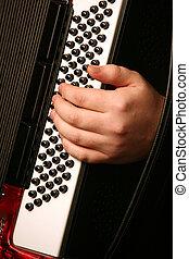 mão, de, a, músico