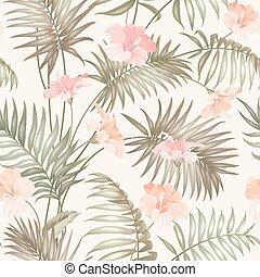 mão, desenhar, tropicais, flower.