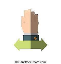 mão, gráfico, negócio, ícone