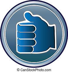 mão, vetorial, logotipo