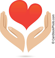 mãos, amor, proteja, cartaz