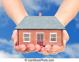 mãos, casa