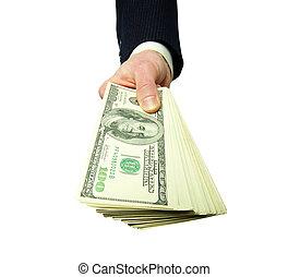 mãos, dinheiro