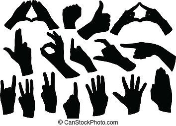 mãos, forma