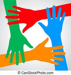 mãos, friendship.