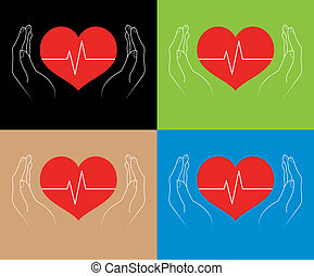 mãos humanas, corações