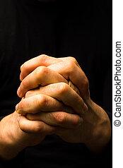 mãos, oração