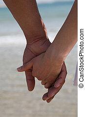 mãos participação par