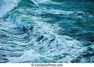 mächtig, hintergrund, druchbrechen , natürlich, ocean winkt