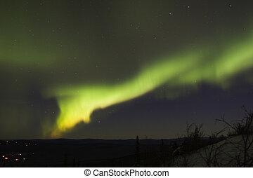 mächtig, polarlicht borealis, bogen