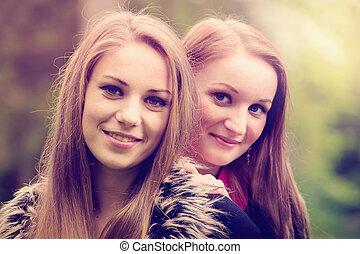 mädels, junger, hübsch