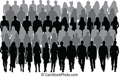 män, folk, kvinnor, -, grupp