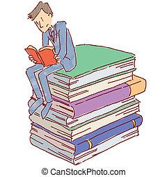 män, läsning