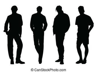 män, silhuett