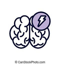 mänsklig, fodra, stråle, ikon, driva, hjärna, stil
