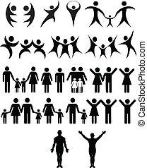 mänsklig, symbol