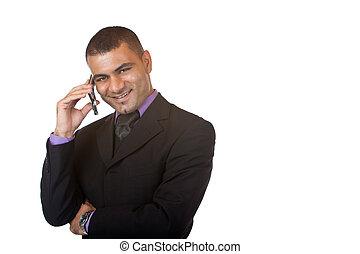 märken, rop, telefon, affärsman