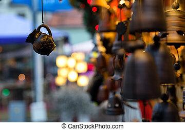 mässa, av, minnen, gatorna, för, jul