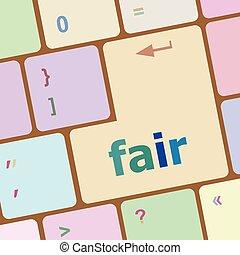 mässa, ord, på, dator, pc, tangentbord, nyckel, vektor,...