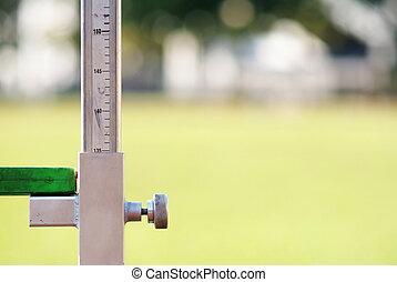 mätning, den, höjdhopp, friidrott