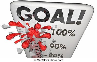 mål, fuldendt, cents 100 per, resultater, træffes,...