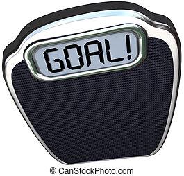 mål, ord, väga, viktförlust, måltavla, lättvikt