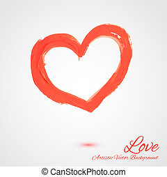 måla, abstrakt, vektor, symbol, hjärta