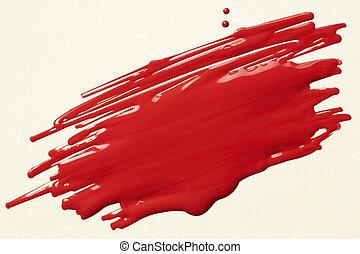 måla, klottra, röd