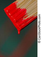 måla, röd