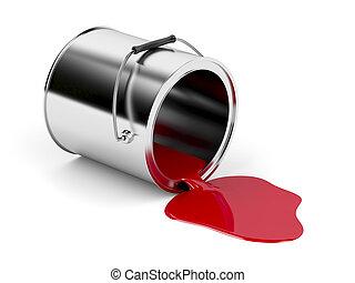 måla, spill, röd