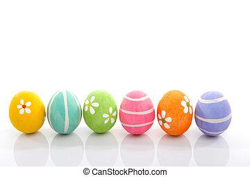 målad, ägg, påsk
