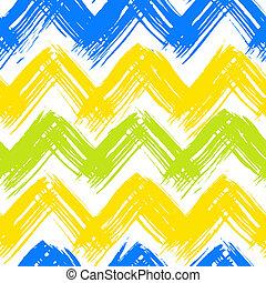 målad, mönster, penseldrag, sparre, hand