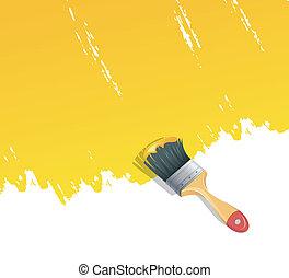 målarfärg borsta, bakgrund