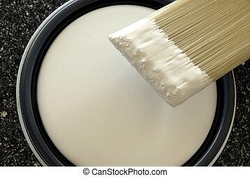 målarfärg borsta