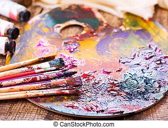 målarfärg borstar