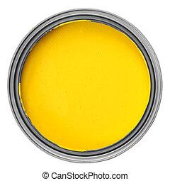 målarfärg kunna, gul