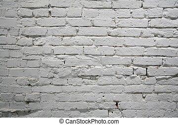 målat vägg, tegelsten