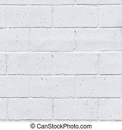 målat vägg, vita tegelsten