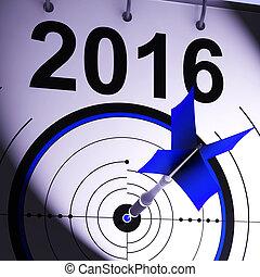 måltavla, affär, medel, prognos, plan, 2016