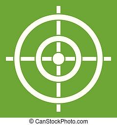 måltavla, ikon, grön