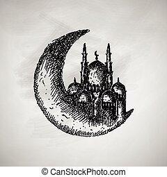 måne, ikon