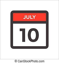 måned, sort, dag, rød, ikon, w, kalender