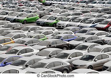 många, bilar