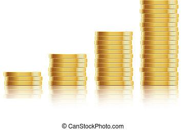 många, guld peng
